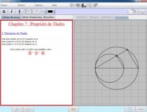 Interface du logiciel BOMEHC